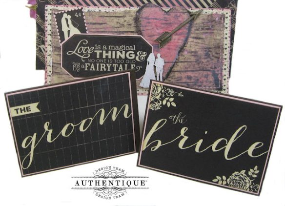 Bride and Groom Envelope Folio Always by Kathy Clement Product by Authentique Photo 4