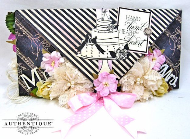 Bride and Groom Envelope Folio Always by Kathy Clement Product by Authentique Photo 1