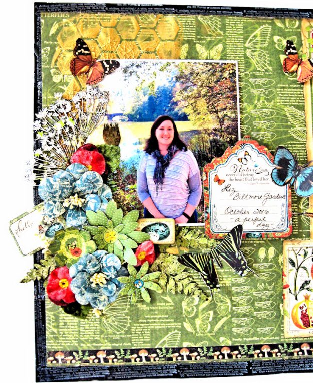 Natural Beauty Double Layout Nature Sketchbook by Kathy Clement Product by Graphic 45 Photo 2