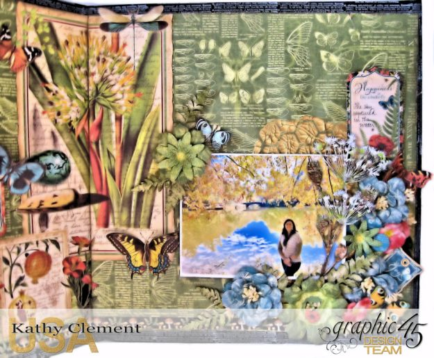 Natural Beauty Double Layout Nature Sketchbook by Kathy Clement Product by Graphic 45 Photo  3