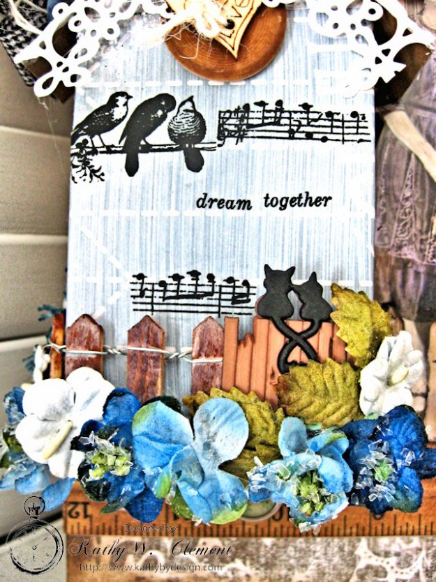 Our House Tim Holtz Etcetera Tag by Kathy Clement for Frilly and Funkie Sound of Music Challenge Photo 5
