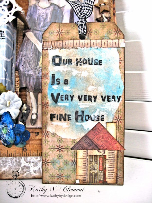 Our House Tim Holtz Etcetera Tag by Kathy Clement for Frilly and Funkie Sound of Music Challenge Photo 7