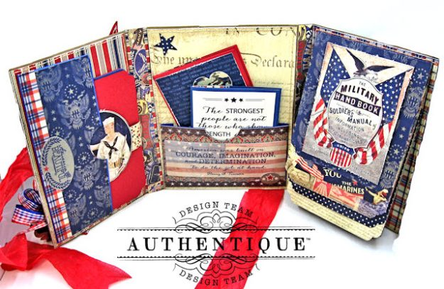 Authentique Heroic Patriotic Folio Heroic by Kathy Clement Product by Authentique Photo 4