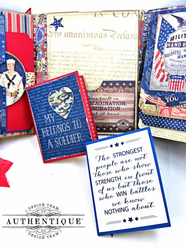 Authentique Heroic Patriotic Folio Heroic by Kathy Clement Product by Authentique Photo 9