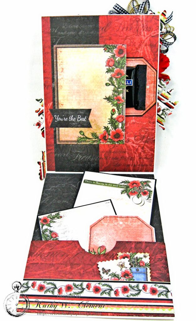 Pocket Full of Poppies All Occasion Card Blazing Poppies by Kathy Clement Product by Heartfelt Creations Photo 4