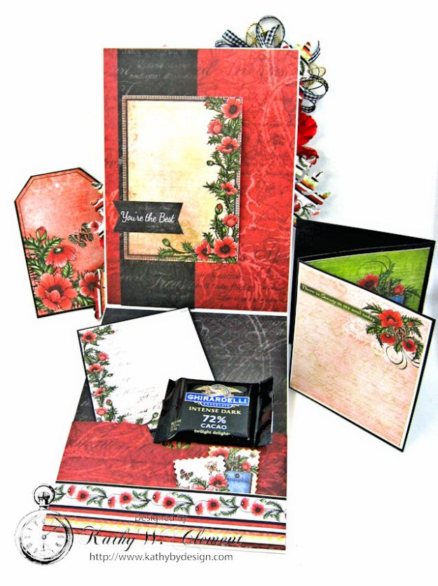 Pocket Full of Poppies All Occasion Card Blazing Poppies by Kathy Clement Product by Heartfelt Creations Photo 5
