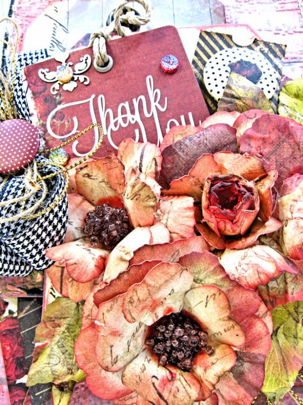 Shabby Posies Thank You Card Tutorial by Kathy Clement for Tammy Tutterow Designs Photo 3