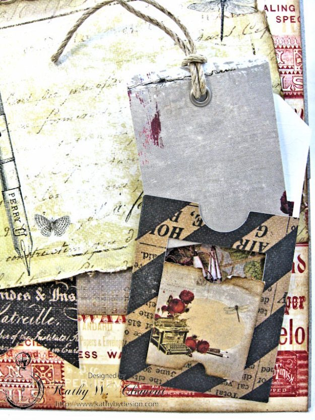 Shabby Posies Thank You Card Tutorial by Kathy Clement for Tammy Tutterow Designs Photo 9