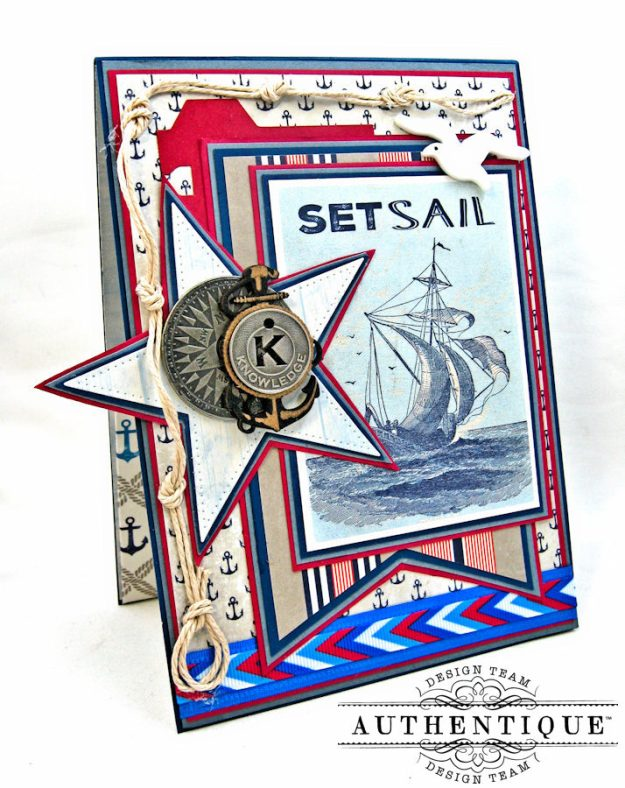 Nautical Themed Graduation Cards Seafarer by Kathy Clement Product by Authentique Photo 6