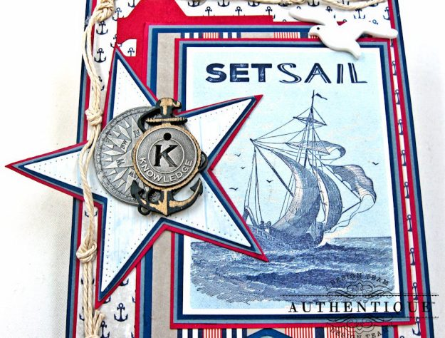 Nautical Themed Graduation Cards Seafarer by Kathy Clement Product by Authentique Photo 7