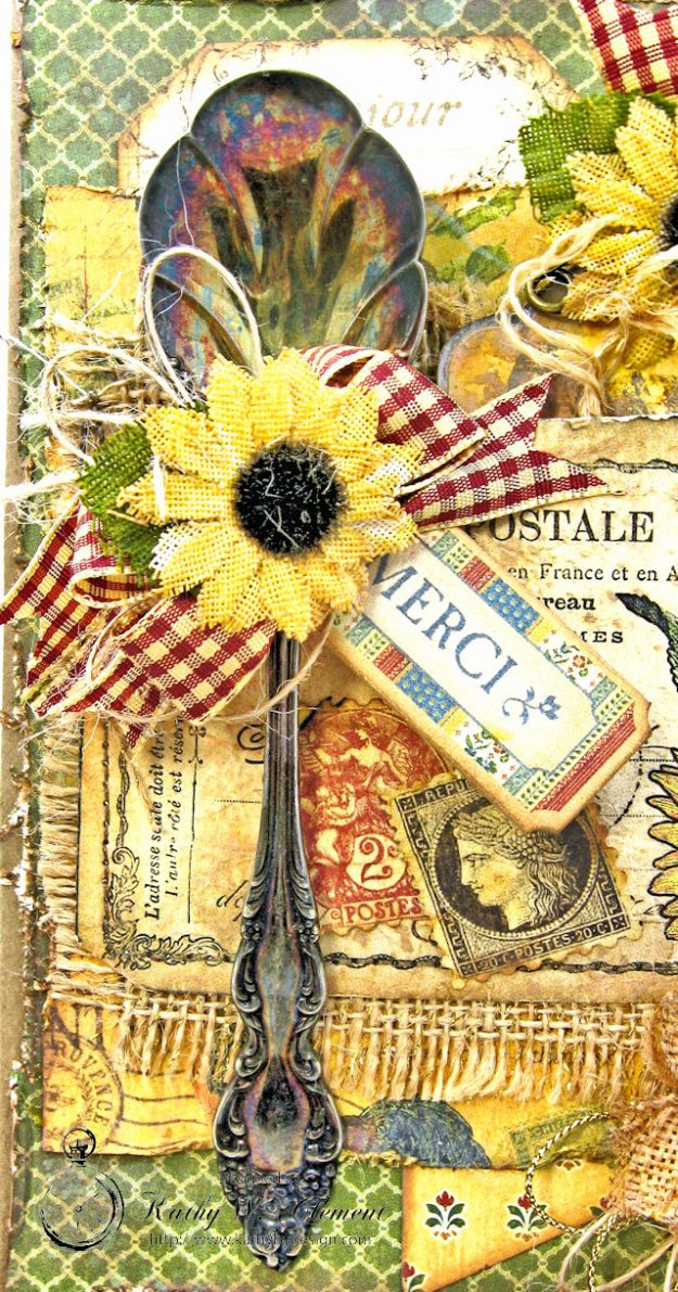Spoonful of Gratitude Card French Country by Kathy Clement for Frilly and Funkie Something Old Challenge Product by Graphic 45 Photo 4