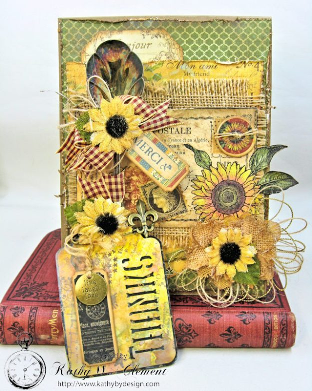 Spoonful of Gratitude Card French Country by Kathy Clement for Frilly and Funkie Something Old Challenge Product by Graphic 45 Photo 5