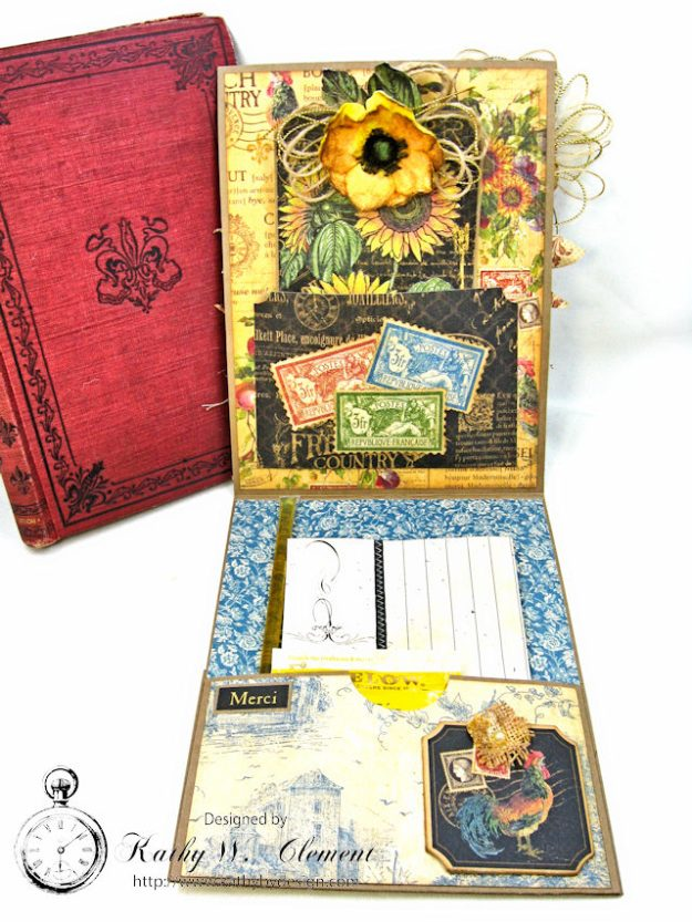 Spoonful of Gratitude Card French Country by Kathy Clement for Frilly and Funkie Something Old Challenge Product by Graphic 45 Photo 7