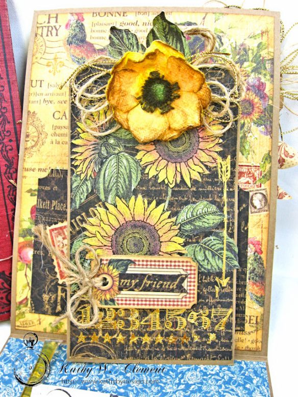 Spoonful of Gratitude Card French Country by Kathy Clement for Frilly and Funkie Something Old Challenge Product by Graphic 45 Photo 10