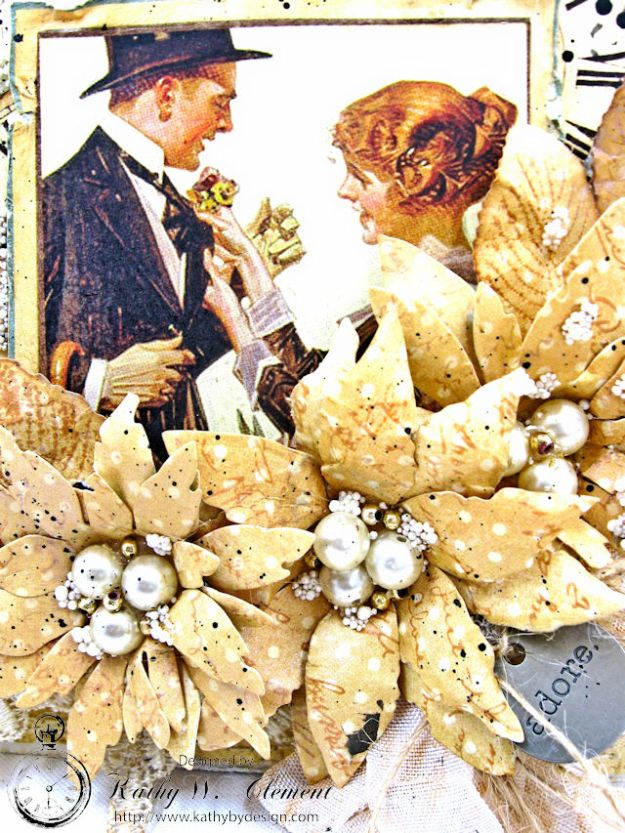 Adore Shabby Chic Wedding Card A Ladies Diary DCE by Kathy Clement for Frilly and Funkie Product by Graphic 45 Photo 4