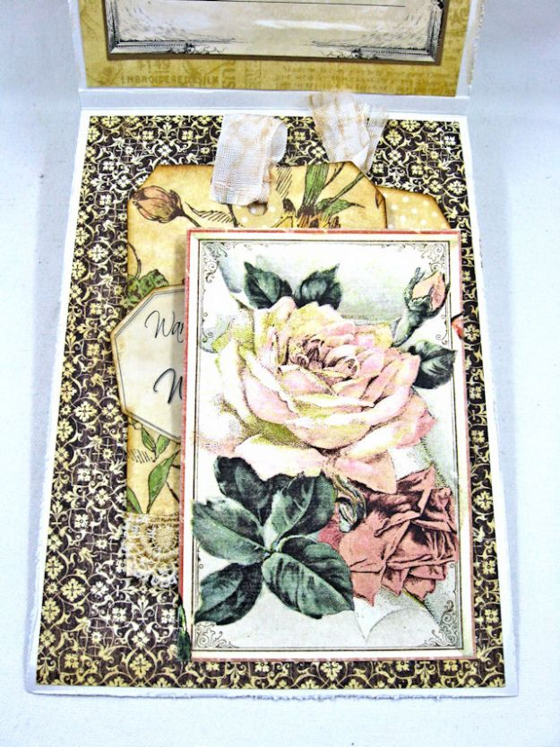 Adore Shabby Chic Wedding Card A Ladies Diary DCE by Kathy Clement for Frilly and Funkie Product by Graphic 45 Photo 7