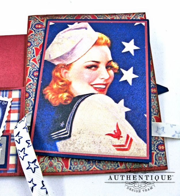 Red White and Blue Through and Through Step Out Card Heroic by Kathy Clement Product by Authentique Photo 4