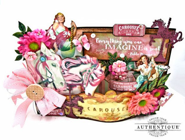 Carousel Themed Birthday Party Ensemble Imagine by Kathy Clement Product by Authentique Photo 3