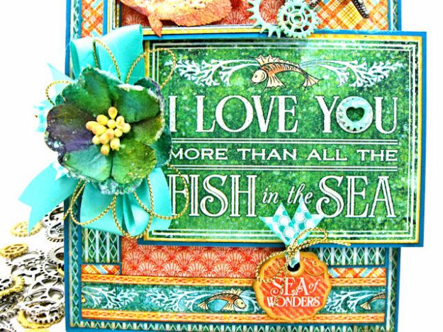 More Than All the Fish in the Sea Folio Voyage Beneath the Sea by Kathy Clement for Really Reasonable Ribbon Product by Graphic 45 Photo 5