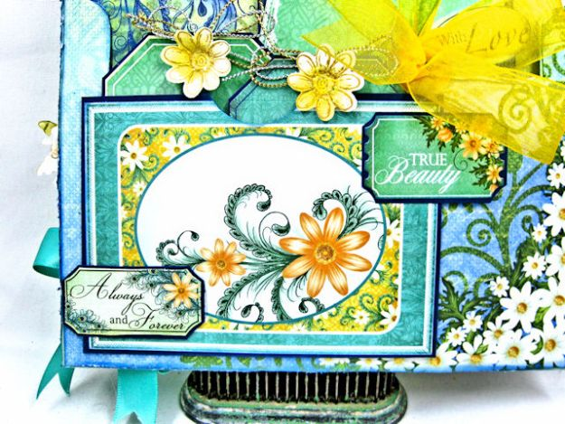 Peacock Paisley Altered Envelope Tutorial by Kathy Clement Product by Heartfelt Creations Photo 5