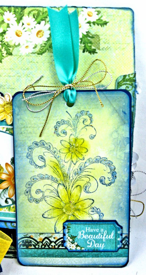 Peacock Paisley Altered Envelope Tutorial by Kathy Clement Product by Heartfelt Creations Photo 10
