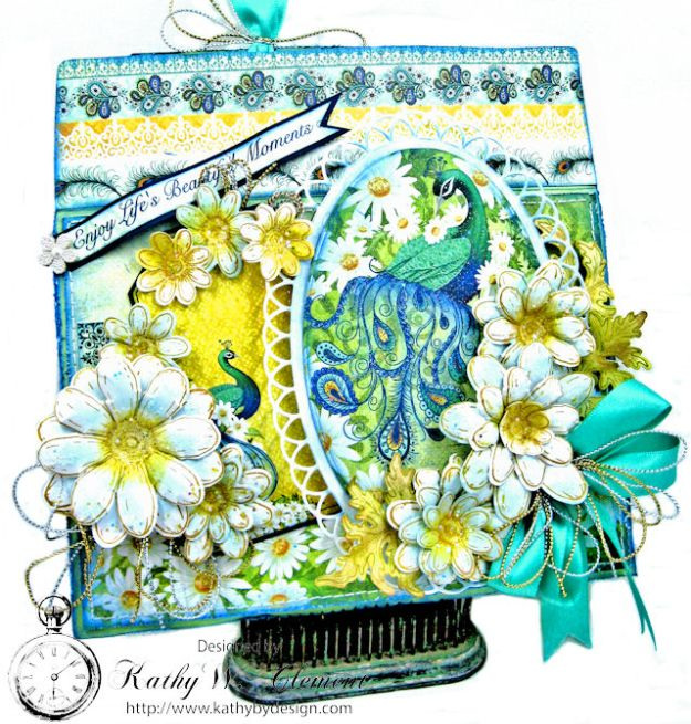 Peacock Paisley Altered Envelope Tutorial by Kathy Clement Product by Heartfelt Creations Photo 3