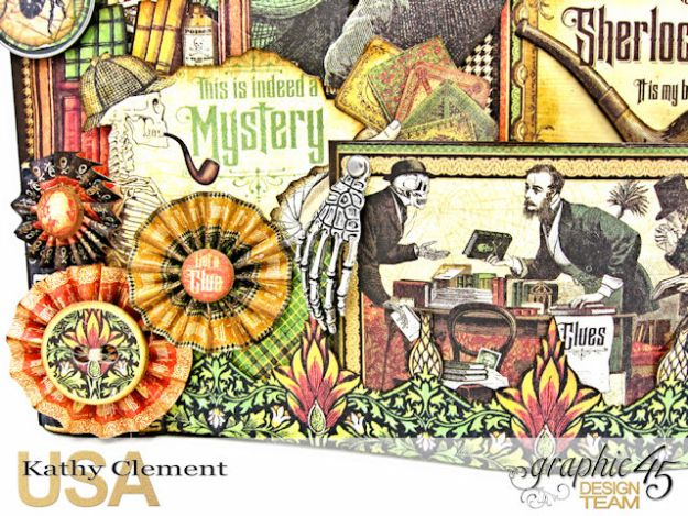 #G45Gentleman Challenge The Game is Afoot Bendi Card Master Detective by Kathy Clement Product by Graphic 45 Photo 4