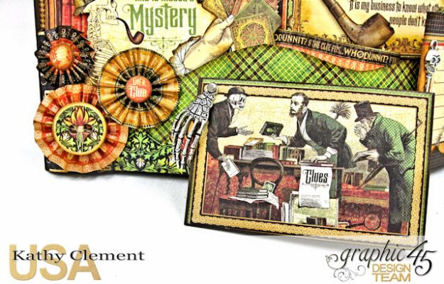 #G45Gentleman Challenge The Game is Afoot Bendi Card Master Detective by Kathy Clement Product by Graphic 45 Photo 5