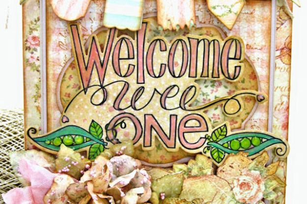 Welcome Wee One Baby Girl Folio by Kathy Clement Product by Tammy Tutterow Designs Photo 4