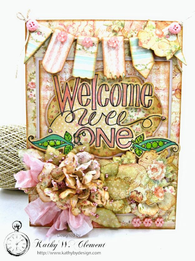 Welcome Wee One Baby Girl Folio by Kathy Clement Product by Tammy Tutterow Designs Photo 2