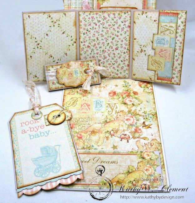 Welcome Wee One Baby Girl Folio by Kathy Clement Product by Tammy Tutterow Designs Photo 12