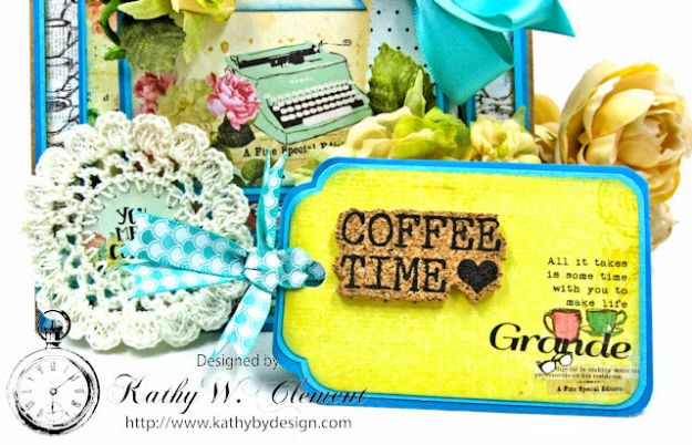You,  Me & Coffee Hidden Tag All Occasion Card for Really Reasonable Ribbon by Kathy Clement Photo 3