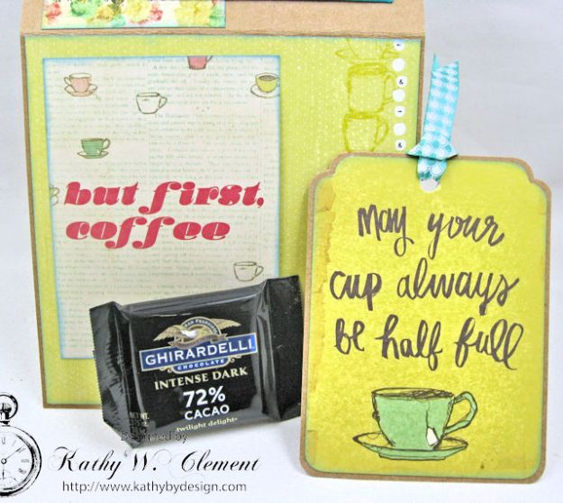 You,  Me & Coffee Hidden Tag All Occasion Card for Really Reasonable Ribbon by Kathy Clement Photo 5