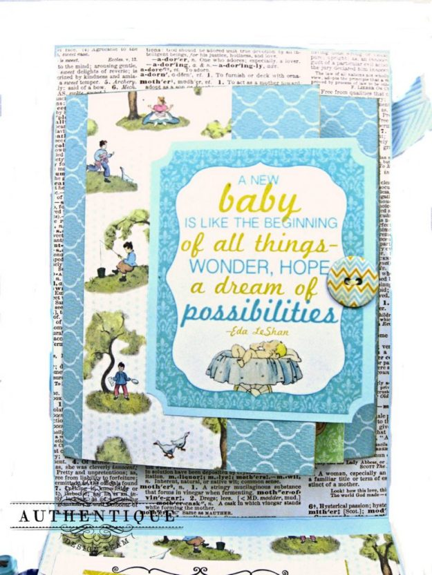 Authentique Beginnings Baby Boy Shaker Card Tutorial by Kathy Clement Photo 8