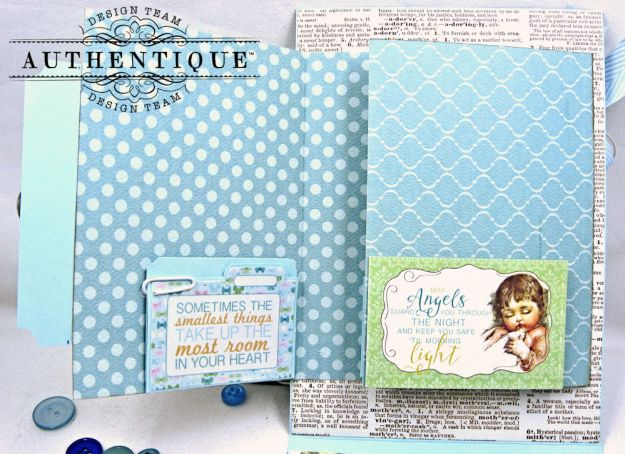 Authentique Beginnings Baby Boy Shaker Card Tutorial by Kathy Clement Photo 9
