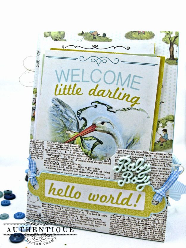 Authentique Beginnings Baby Boy Shaker Card Tutorial by Kathy Clement Photo 11