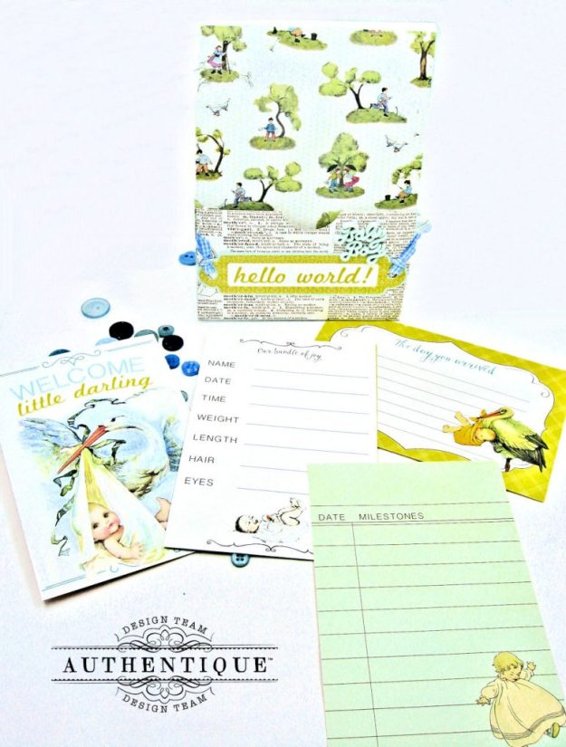 Authentique Beginnings Baby Boy Shaker Card Tutorial by Kathy Clement Photo 12