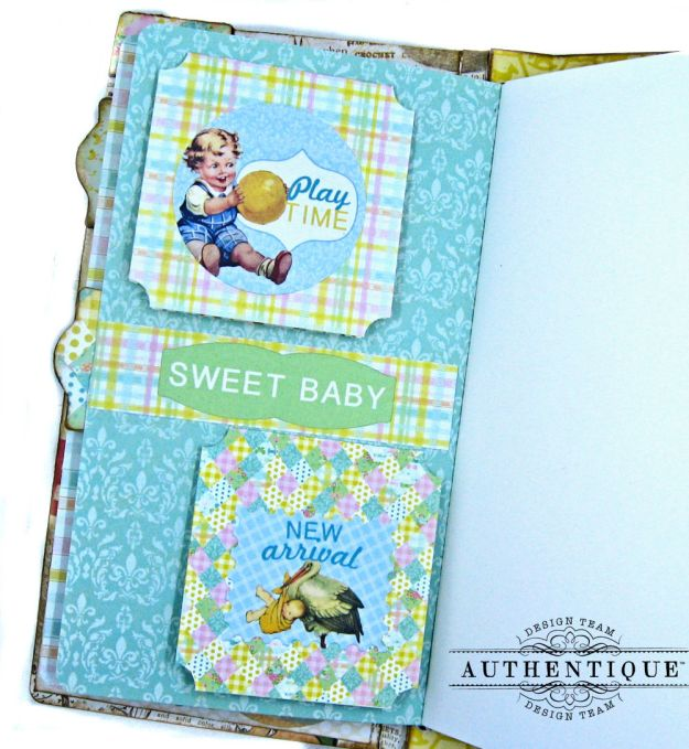 Beginnings Baby Book Beginnings by Kathy Clement Product by Authentique Paper Photo 15