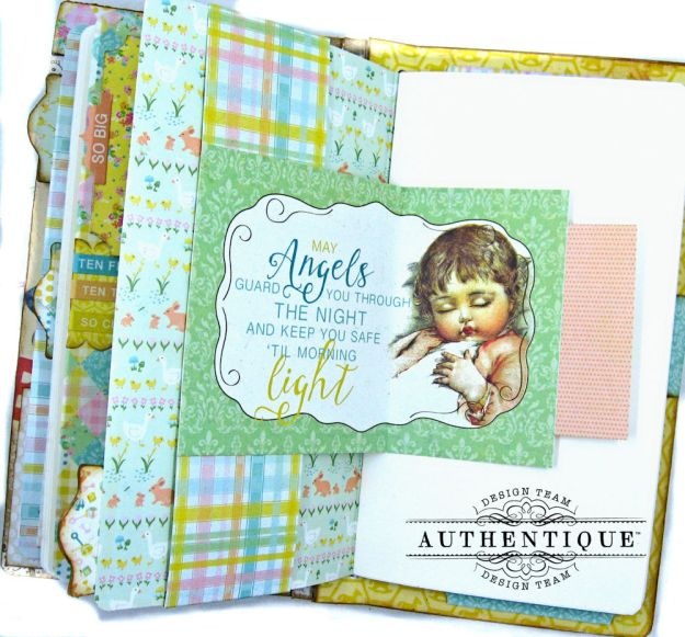 Beginnings Baby Book Beginnings by Kathy Clement Product by Authentique Paper Photo 16