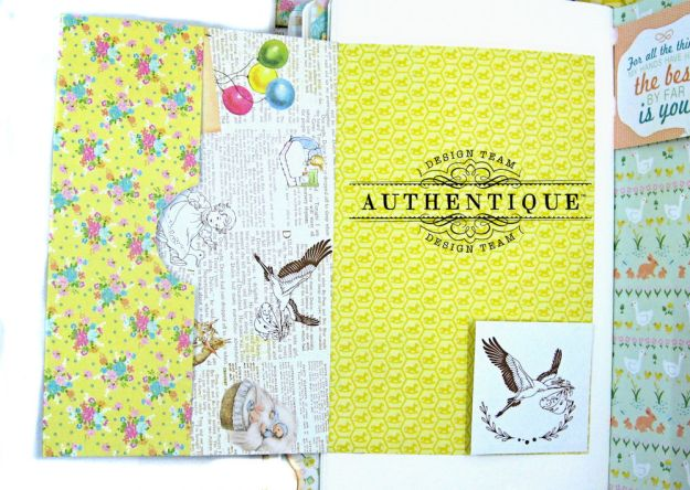 Beginnings Baby Book Beginnings by Kathy Clement Product by Authentique Paper Photo 18