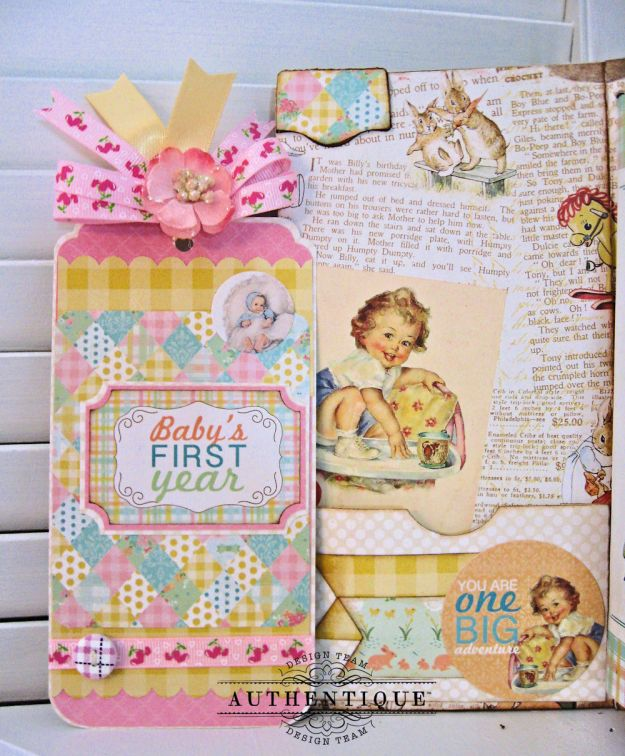 Beginnings Baby Book Beginnings by Kathy Clement Product by Authentique Paper Photo 6