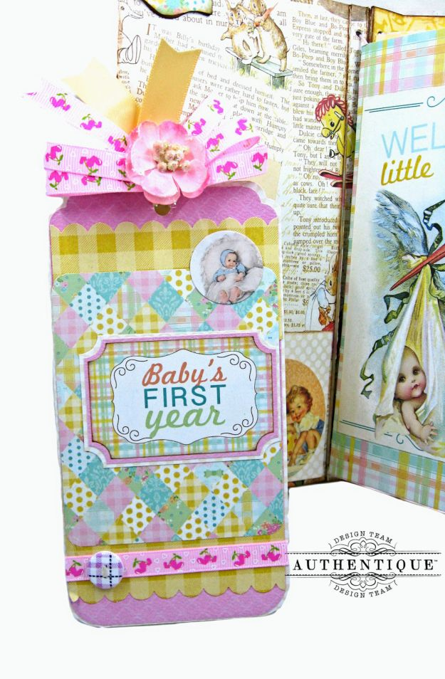 Beginnings Baby Book Beginnings by Kathy Clement Product by Authentique Paper Photo 7