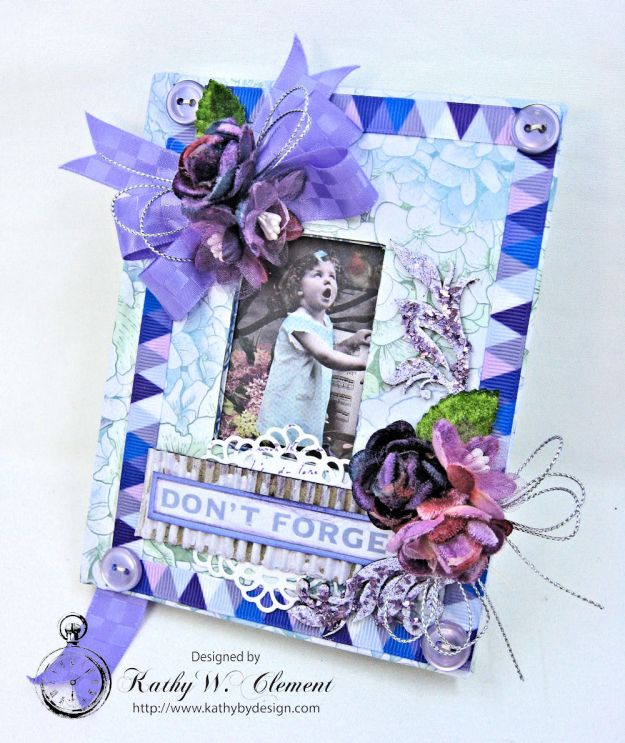 Lilac Whisper Shabby Chic Altered Notebook by Kathy Clement for RRR Product by Kaisercraft Photo 1