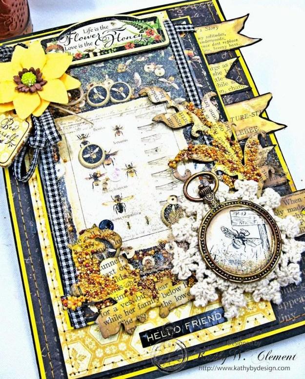 Nature Sketchbook Honeybee Shaker Card by Kathy Clement Photo 3