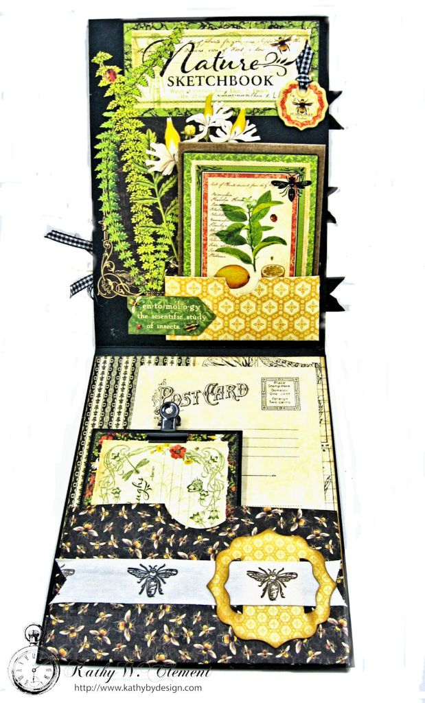 Nature Sketchbook Honeybee Shaker Card by Kathy Clement Photo 4