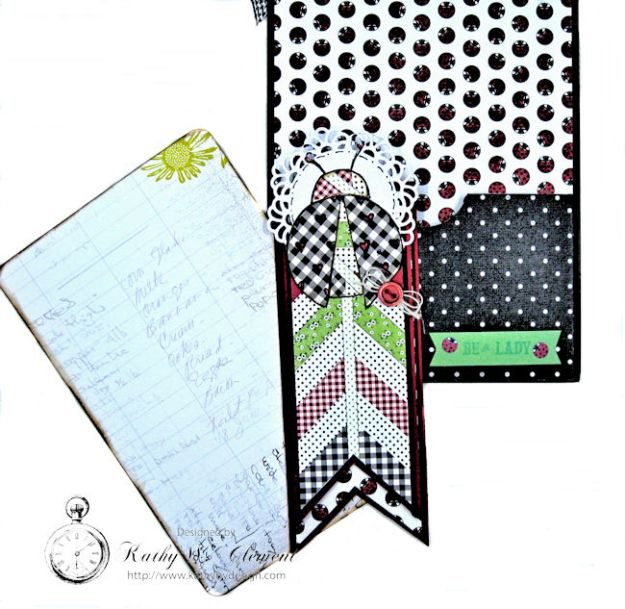 Love, Luck and Ladybugs Bookmark Card by Kathy Clement for Tammy Tutterow Designs Photo 5