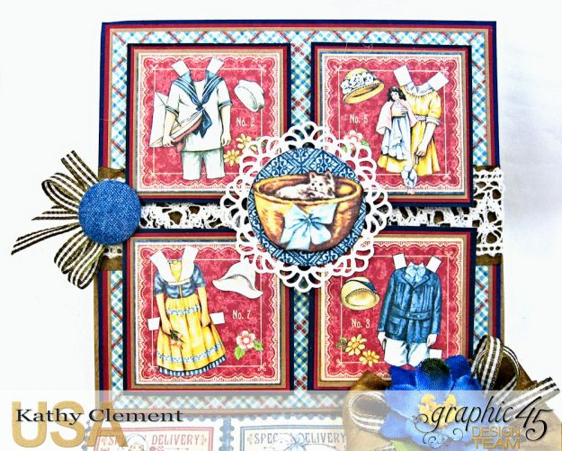 Graphic 45 Paper Doll Family Easel Card Penny's Paper Doll Family by Kathy Clement Product by Graphic 45 Photo 5