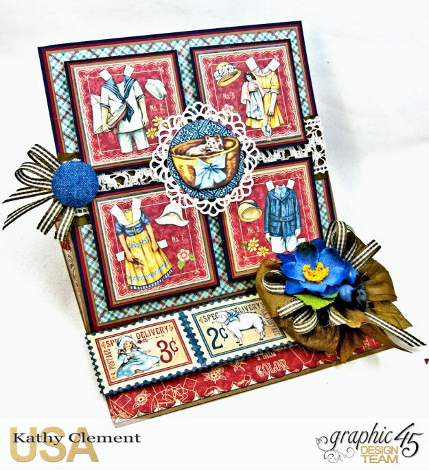 Graphic 45 Paper Doll Family Easel Card Penny's Paper Doll Family by Kathy Clement Product by Graphic 45 Photo 2