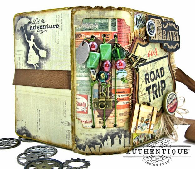 Authentique Pastime Passport Style Mini Album by Kathy Clement Photo 3