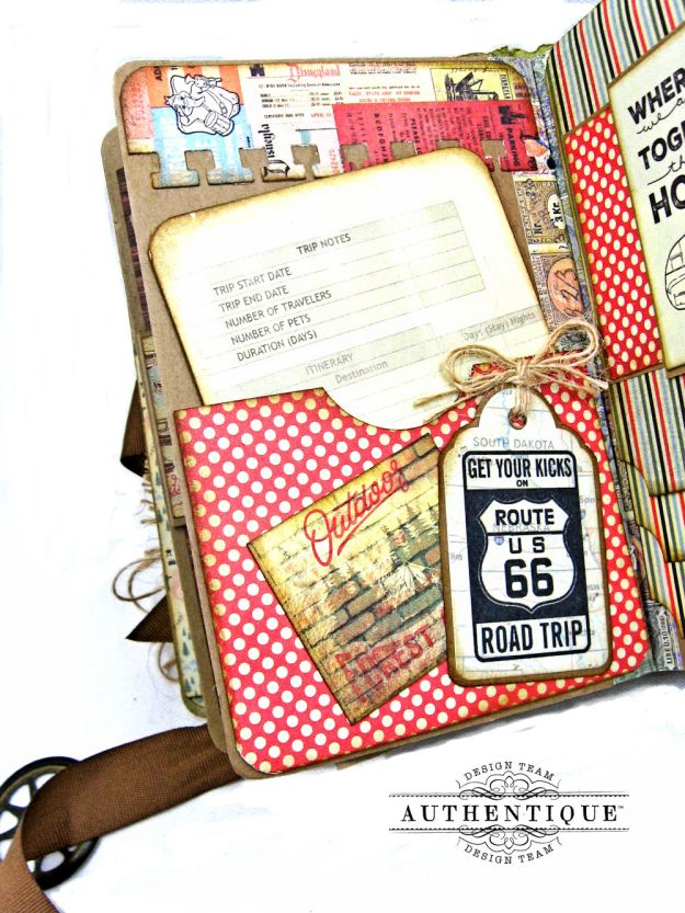 Authentique Pastime Passport Style Mini Album by Kathy Clement Photo 9